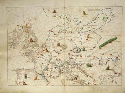Europe, from Atlas of the World in Thirty-Three Maps, 1553