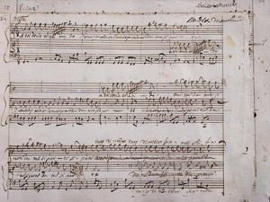 Autograph Sheet Music by Benedetto Marcello