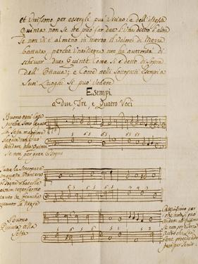 Examples of Polyphonic Music, from the Treatise on Harmonic Consonances, 1717 by Benedetto Marcello