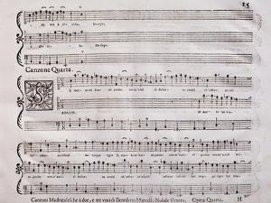 Handwritten Score for Madrigalesque Songs and Chamber Arias for Two, Three and Four Voices by Benedetto Marcello