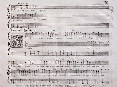 Handwritten Score for Madrigalesque Songs and Chamber Arias for Two, Three and Four Voices
