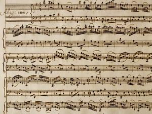 Handwritten Sheet Music of the Concert No 1 by Benedetto Marcello