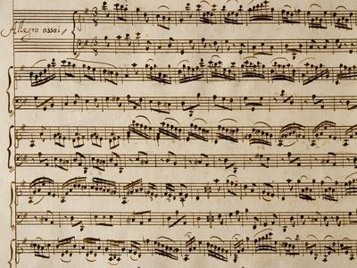 Handwritten Sheet Music of the Concert No 1