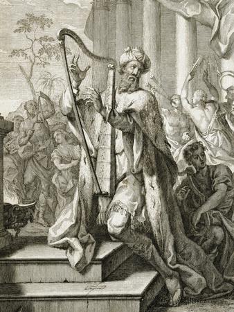 King David Playing the Lyre, 1724