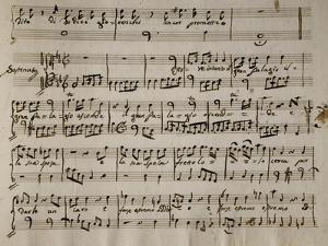 Sheet Music of Andromaca, 1730 by Benedetto Marcello