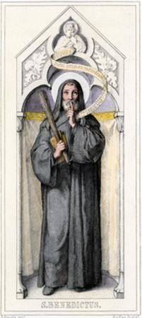 Benedict of Nursia, Founder of Benedictine Monasteries