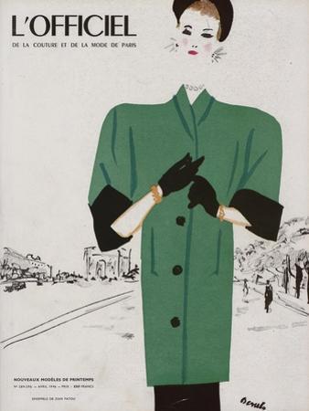 L'Officiel, April 1946 - Ensemble de Patou by Benito