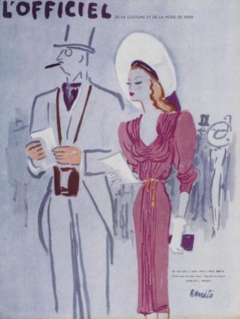 L'Officiel, June 1946 - Robe de L. Mendel