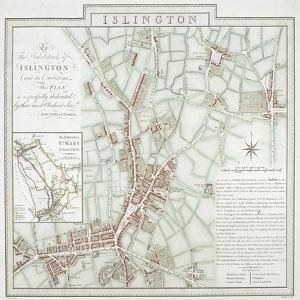 Map of the Parish of St Mary, Islington, London, 1793 by Benjamin Baker