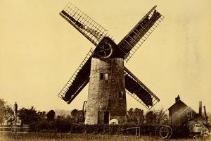 Windmill at Kempsey by Benjamin Brecknell Turner