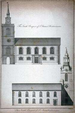Two 17th Century London Churches, C1750 by Benjamin Cole