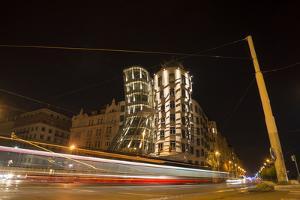 Dancing House, Prague, Czechia, Long Time Exposure by Benjamin Engler