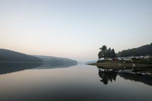 Germany, North Rhine-Westphalia, Sorpe Dam, Camping Site by Benjamin Engler