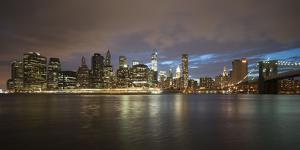 Long-Exposure Photography, View at Manhattan, New York, Usa by Benjamin Engler