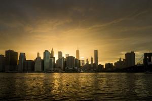 Sunset Above Manhattan, New York, Usa by Benjamin Engler