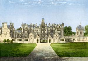 Harlaxton Manor, Lincolnshire, Home of the Gregory Family, C1880 by Benjamin Fawcett