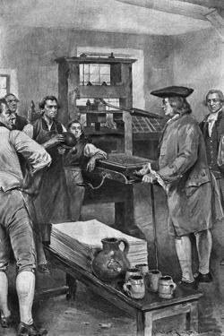Benjamin Franklin Offering Advice to Printers