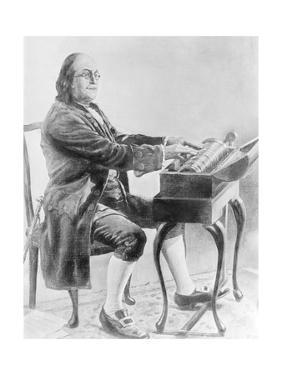 Benjamin Franklin Playing Harmonica
