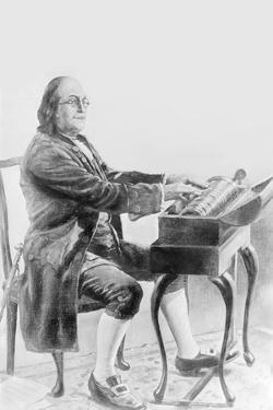 Benjamin Franklin Playing the Armonica