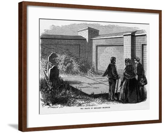 Benjamin Franklin's Grave--Framed Giclee Print