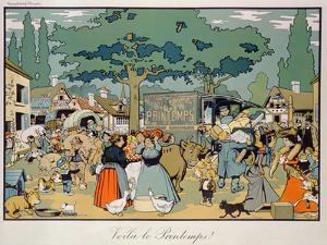 Poster Advertising 'Le Printemps' Delivery Service, 1904 by Benjamin Rabier