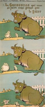 The Frog Who Would Grow as Big as the Ox, from 'Fables' by Benjamin Rabier