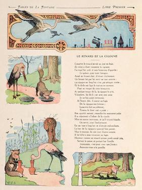 The Stork and the Fox, from the 'Fables' by Jean de la Fontaine by Benjamin Rabier