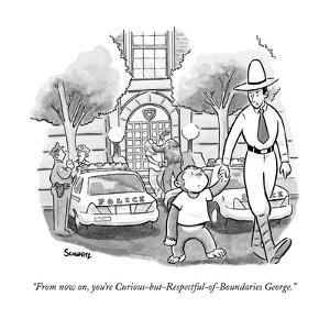 """""""From now on, you're Curious-but-Respectful-of-Boundaries George."""" - New Yorker Cartoon by Benjamin Schwartz"""
