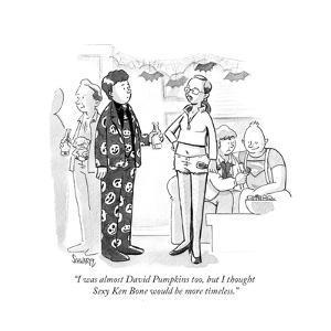 """I was almost David Pumpkins too, but I thought Sexy Ken Bone would be mor…"" - Cartoon by Benjamin Schwartz"