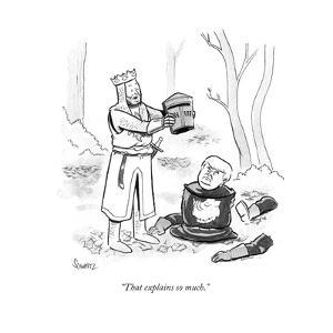 """""""That explains so much."""" - Cartoon by Benjamin Schwartz"""