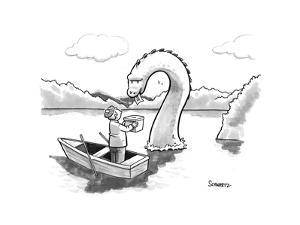 The Loch Ness monster votes for Scotland Independance. - New Yorker Cartoon by Benjamin Schwartz