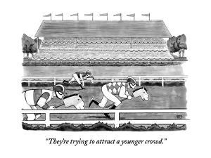 """""""They're trying to attract a younger crowd."""" - New Yorker Cartoon by Benjamin Schwartz"""