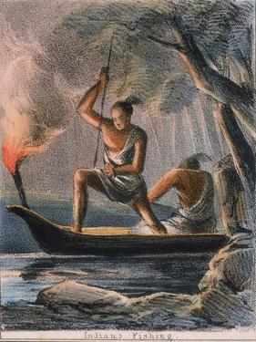 Indians Fishing, C1845 by Benjamin Waterhouse Hawkins