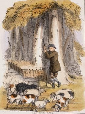 The Swine Herd, C1845 by Benjamin Waterhouse Hawkins