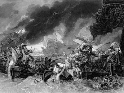 Battle of La Hogue, 19 May 1692 by Benjamin West