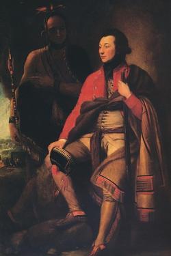 'Colonel Guy Johnson and Karonghyontye (Captain David Hill)', 1776 by Benjamin West