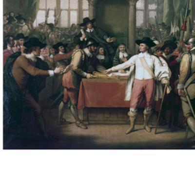 Cromwell Dissolving the Long Parliament, 1782 by Benjamin West