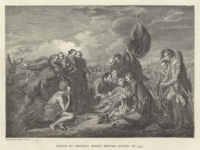 Death of General Wolfe before Quebec in 1759 by Benjamin West