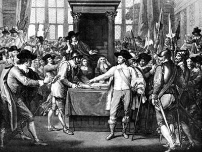 Expulsion of Members by Cromwell, 1653 by Benjamin West