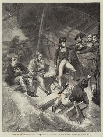 Lieutenant Nelson Volunteering to Board a Prize in a Violent Gale, 20 November 1777 by Benjamin West