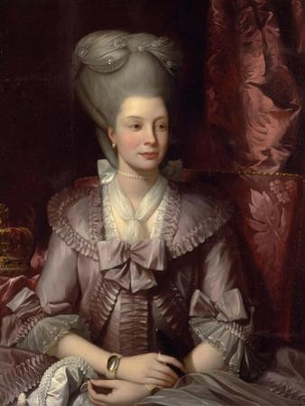 Queen Charlotte of the United Kingdom (1744-181), 1777 by Benjamin West