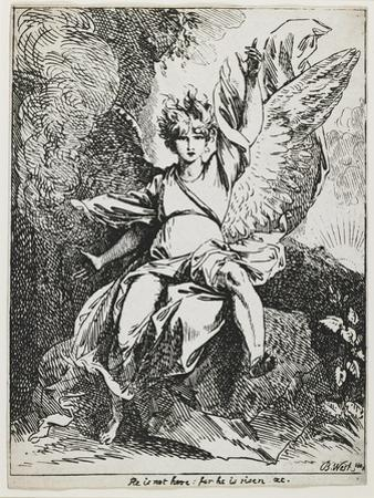The Angel of the Resurrection , from Specimens of Polyautography, 1801 (Published 1803) by Benjamin West