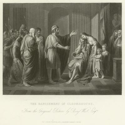 The Banishment of Cleombrotus by Benjamin West