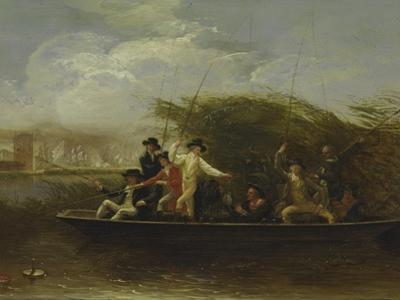 The Fishing Party - a Party of Gentlemen Fishing from a Punt, 1794 by Benjamin West