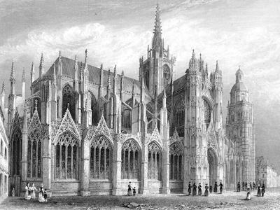 Evreux Cathedral, Evreux, France, 1836