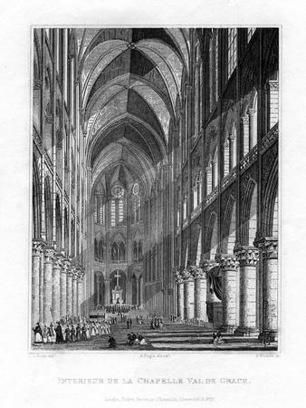 La Chapelle Du Val De Grace, Paris, France, 1829