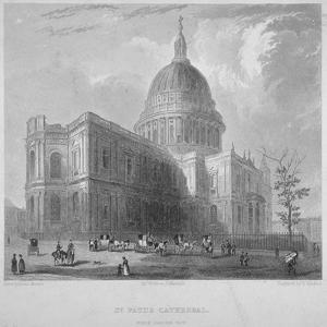 North-East View of St Paul's Cathedral, City of London, 1835 by Benjamin Winkles