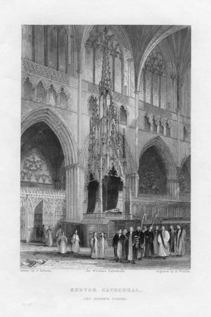 The Bishop's Throne, Exeter Cathedral, Devon, C1836-C1842