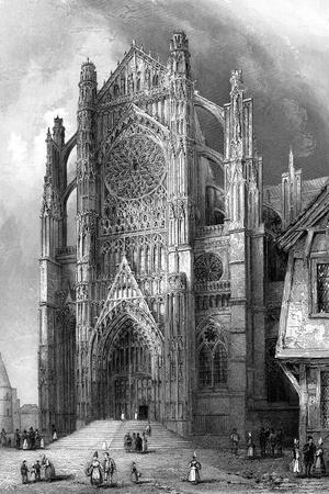 The South Transept of Beauvais Cathedral, France, 1836