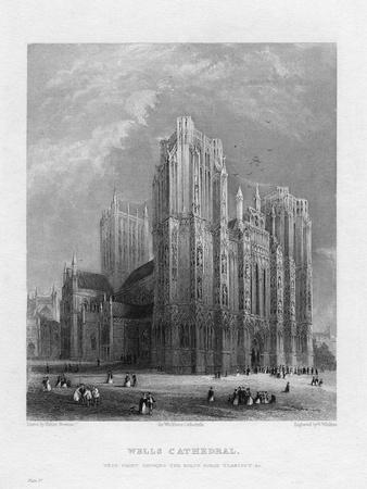 Wells Cathedral, Somerset, C1860